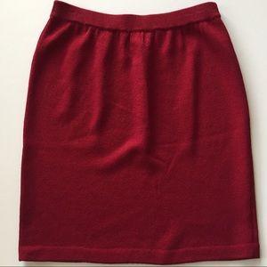 St. John Evening Knit Pencil Skirt